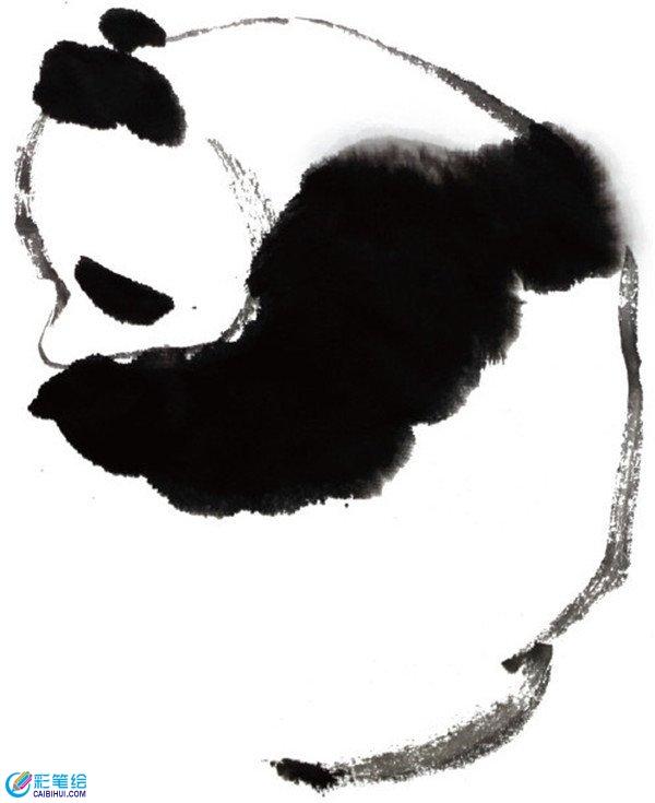国画大熊猫画法