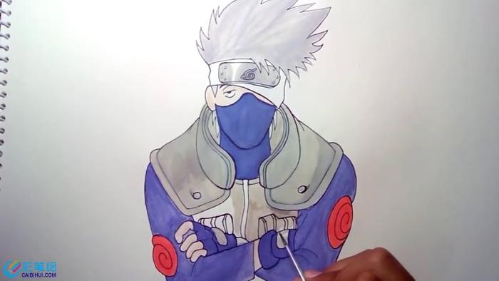 手绘漫画人物火影卡卡西