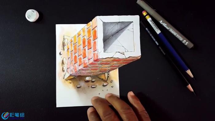 手绘3d立体画步骤