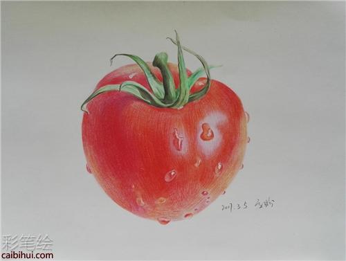 水果彩铅手绘素材