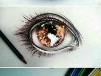 人物头像五官之彩铅绘画<font color='red'>眼睛</font>详解