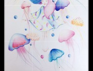 水溶性彩铅画简单好看的彩铅画