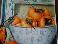 彩铅画<font color='red'>水果</font>之柿子的画法