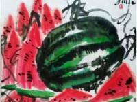 中国画<font color='red'>水果</font>篇之大西瓜的画法