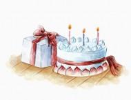 可口的小蛋糕水彩画教程