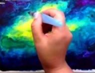 漂亮的水彩画教程之绿雾