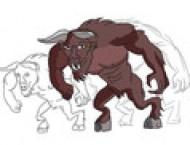如何设计一只野蛮的牛头怪?漫画教程