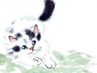 国画<font color='red'>猫</font>的画法视频