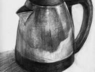 素描教程之不锈钢水壶