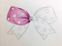 彩铅画基础教程—蝴蝶结