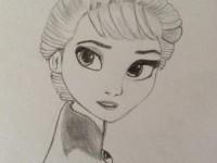 素描教你画冰雪奇缘的艾莎