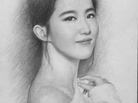 震撼超写实素描刘亦菲