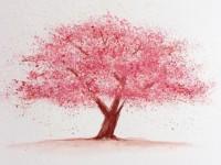 大神教你樱花树水彩画法