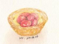 用水彩画教你画美味的蛋挞(下)