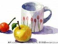 夏日炎炎,来一杯青柠茶解解暑,教你用水彩画青檬