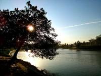 水彩画教学之静静的湖岸