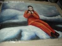 雪中独行的女子(油画)教程