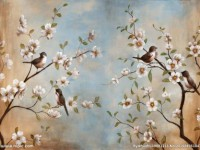 有没有花鸟油画的感觉,真的太美了