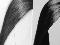 素描女生长发