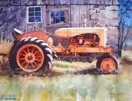 美国画家的水彩风景画作品,色彩明快,光影感极强