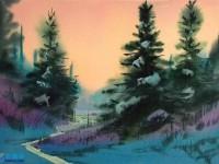 美国画家的水彩画<font color='red'>风景</font>作品