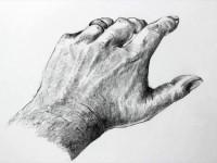 素描人物的手