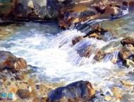 美国画家的水彩画人物及水彩风景作品