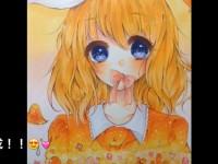 马克笔画动漫美少女