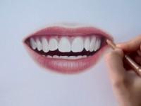 彩铅手绘牙齿教程