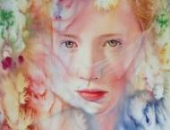 彩铅与水彩画美少女详细步骤
