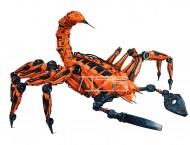 彩铅马克笔手绘蝎子机甲战士