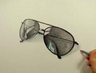 彩铅画帅帅的逼真太阳眼镜