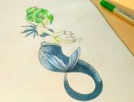 马克笔画个小小美人鱼