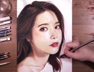 彩铅手绘韩国女明星Solar