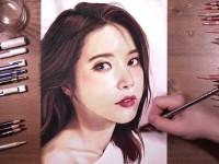 <font color='red'>彩铅</font>手绘韩国女明星Solar