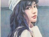 彩铅画手绘女神Angelababy