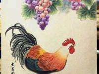 彩铅绘庭院图,春来鸟语<font color='red'>花</font>香,秋来风吹落叶黄!
