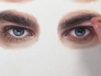 彩铅手绘男性眼睛